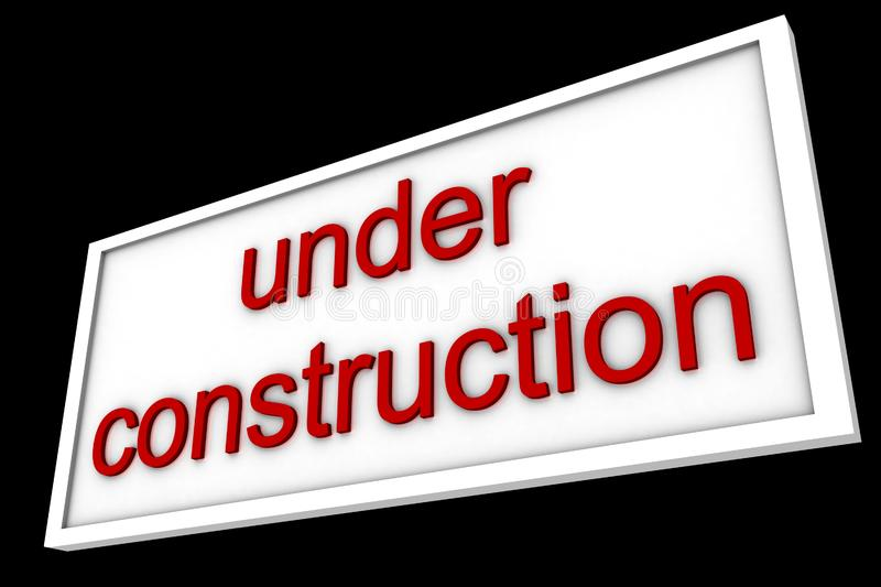 Sign says under construction royalty free stock photos