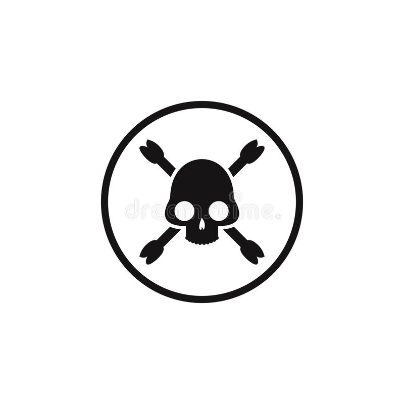 sign skull and bones icon. Element of danger signs icon. Premium quality graphic design icon. Signs and symbols collection icon fo vector illustration