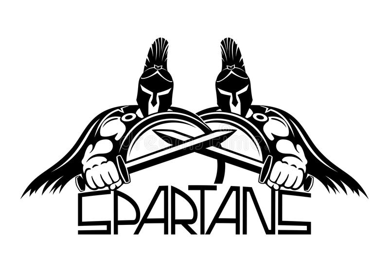 Sign of spartans. Sign of spartans on a white background royalty free illustration