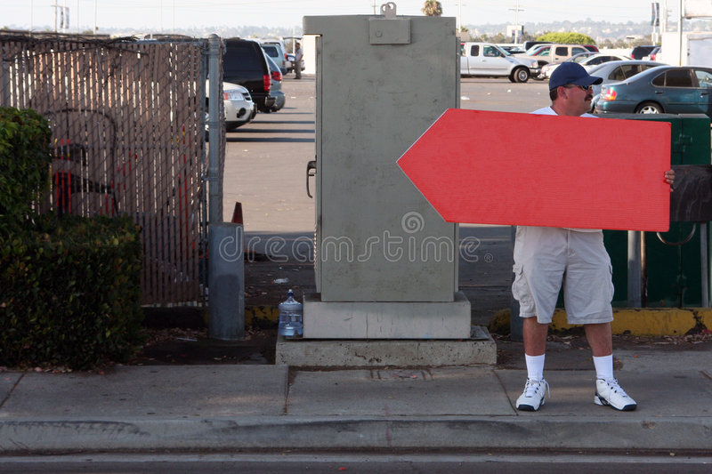 Download Sign Spinner - Red Sign - Traffic Stock Image - Image: 6024165
