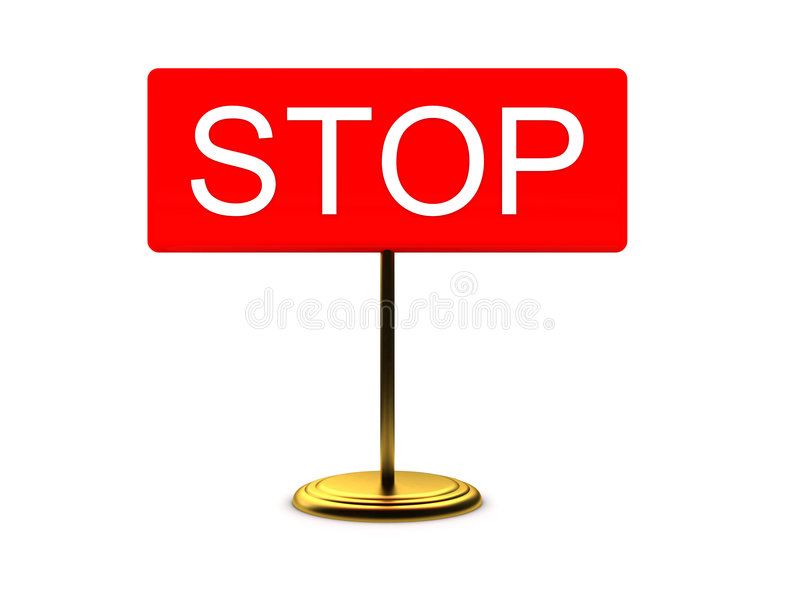 Sign - STOP stock photo