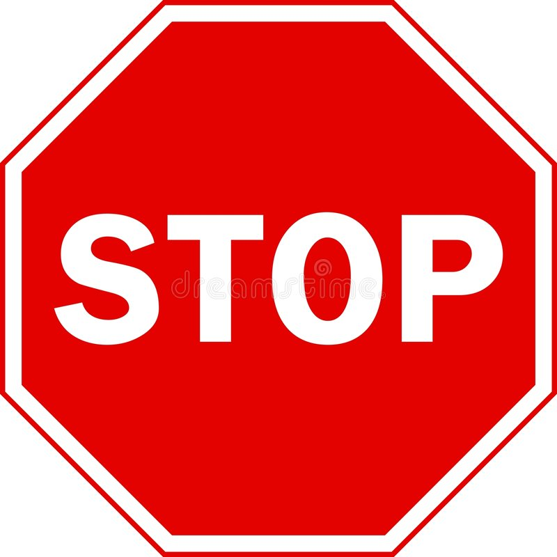 sign stop διανυσματική απεικόνιση
