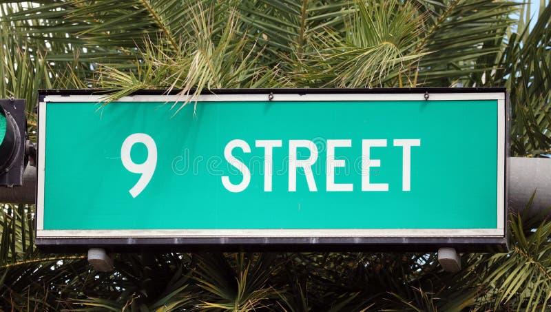 9th street sign street in Miami South beach Florida stock photo