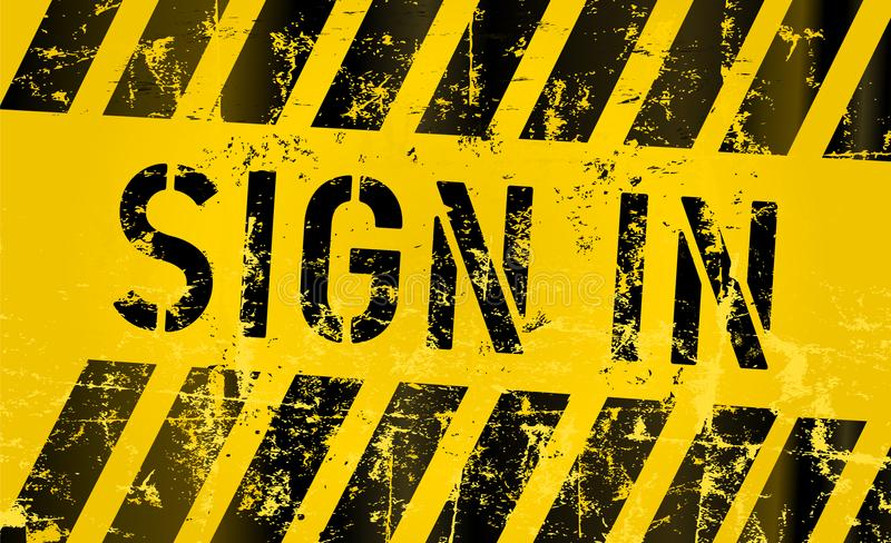 Sign in and subscribe button or sign vector illustration