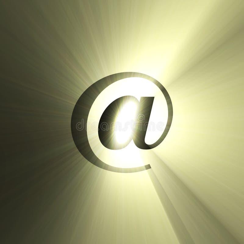 At sign sun halo light flare vector illustration