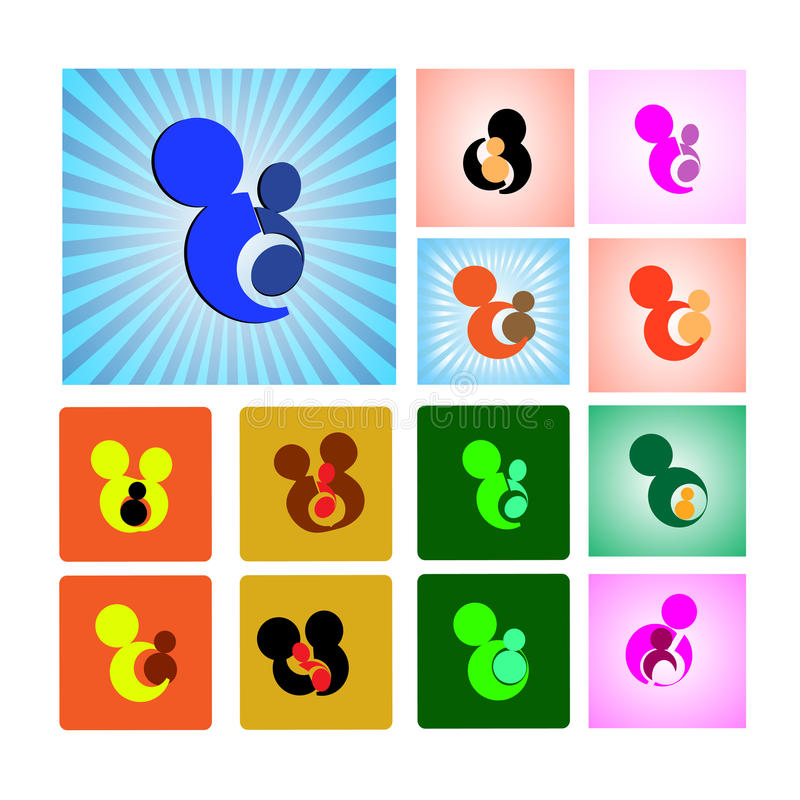 Sign Or Symbol Of Mother And Child Stock Illustration Illustration