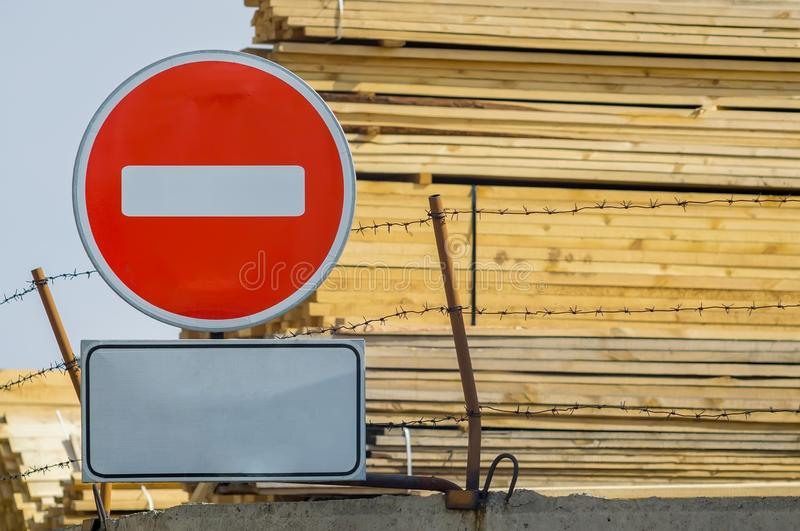 Sign, symbol the industrial zone royalty free stock photo