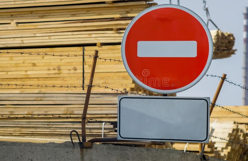 Sign, symbol the industrial zone stock photos