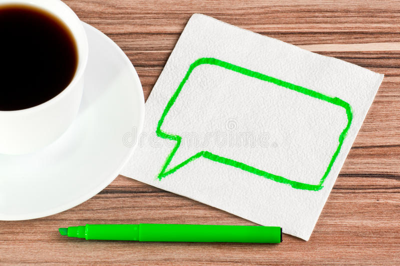 Download The Sign Of Talk On A Napkin Stock Photo - Image: 25733726