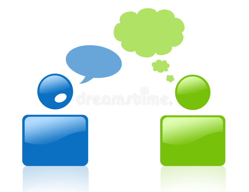 Sign Of Talking And Thinking People Royalty Free Stock Image