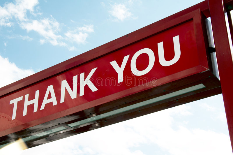 Sign - THANK YOU stock photography