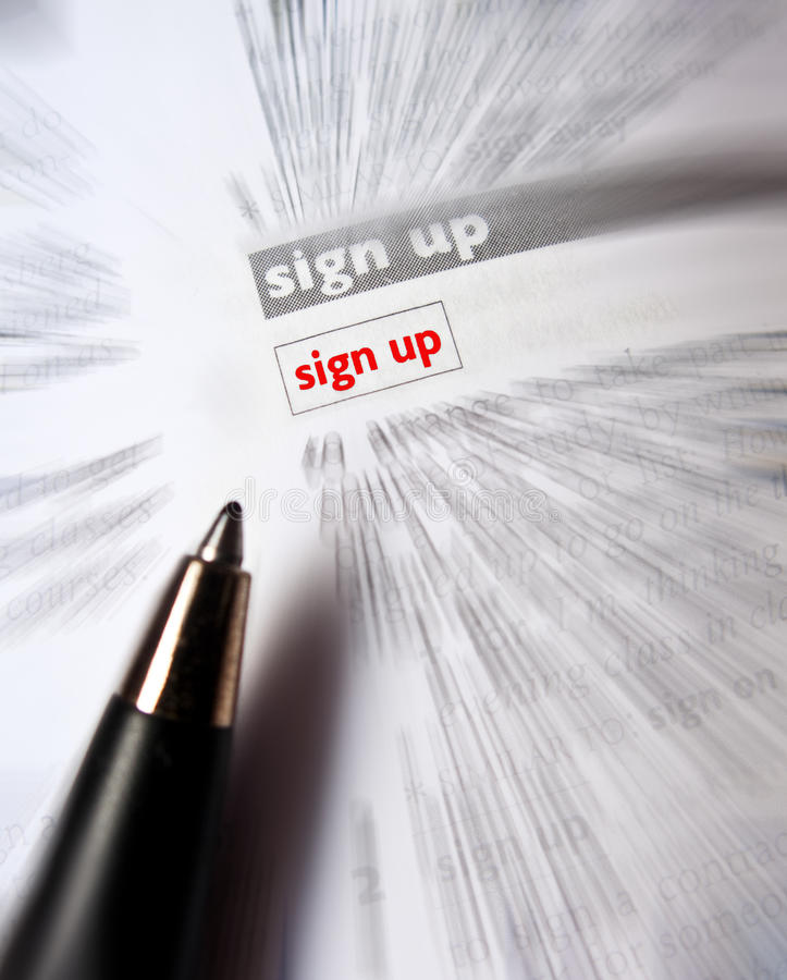 Download Sign up stock image. Image of blur, words, point, phrase - 21502351