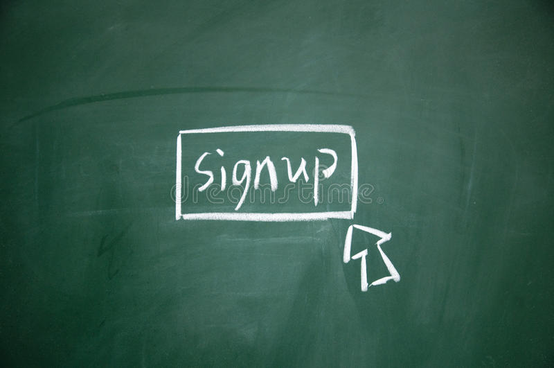 Sign up button royalty free stock image