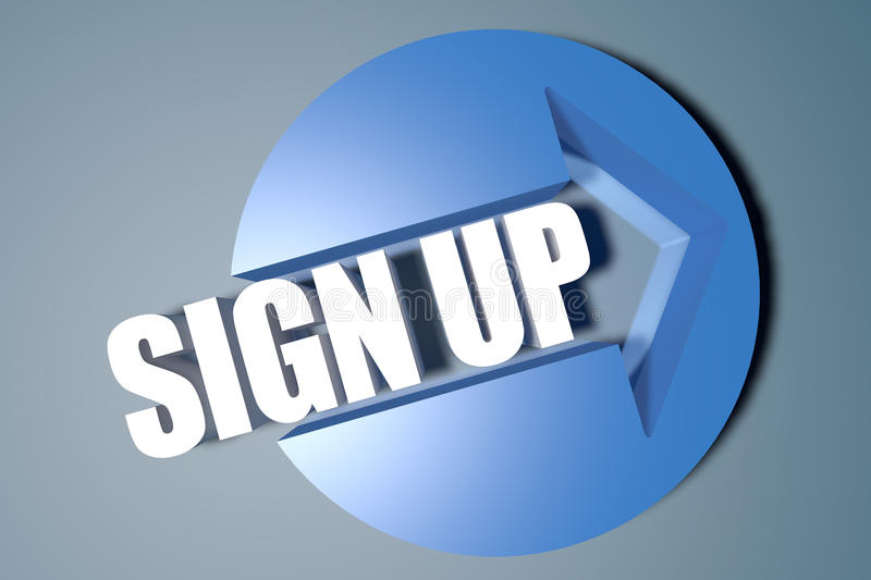 Sign up royalty free stock photo