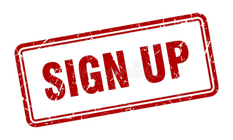 Sign up stamp. Sign up grunge vintage stamp isolated on white background. sign up. sign vector illustration