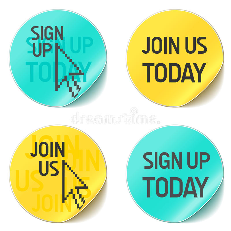 Sign up and join us stock illustration