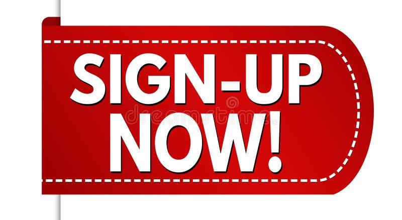 Sign-up now banner design vector illustration