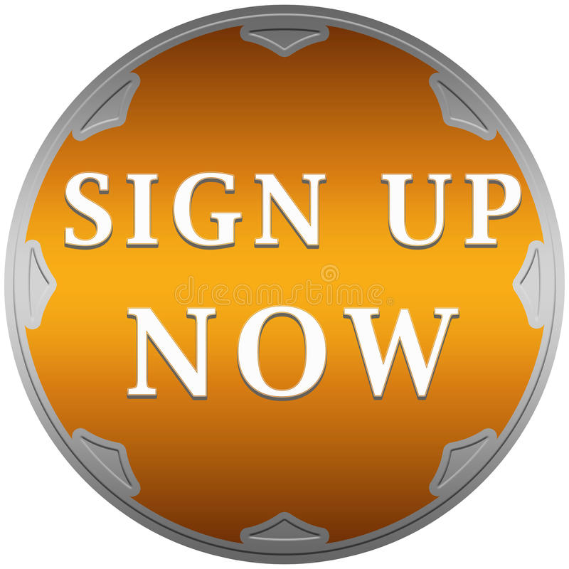 Sign up now button stock illustration