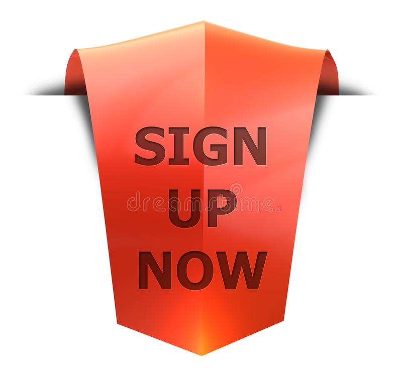 Banner sign up now stock illustration