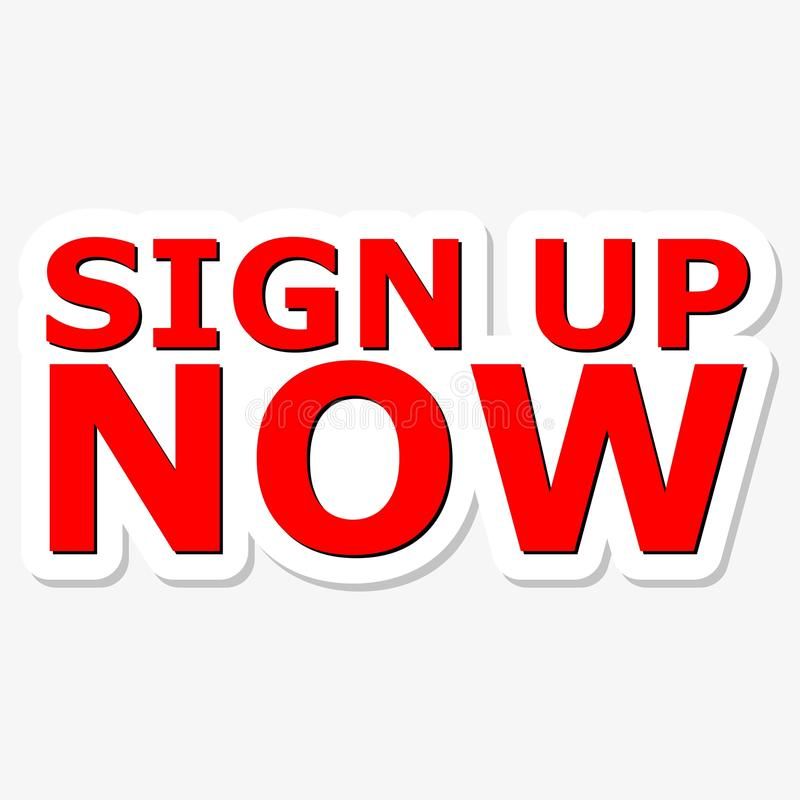 Sign Up Now Red Sign vector illustration