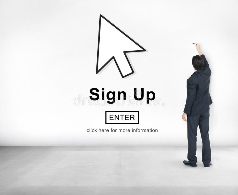 Sign Up Register Join Applicant Enroll Enter Membership Concept royalty free stock photos