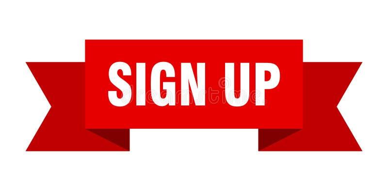 Sign up ribbon. Sign up banner. sign. sign up royalty free illustration