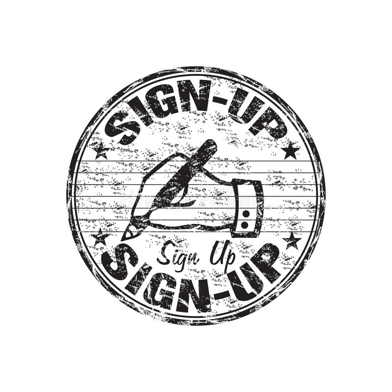 Sign Up Rubber Stamp Stock Image