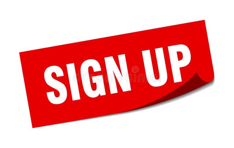 Sign up sticker. Sign up square sign. sign up royalty free illustration