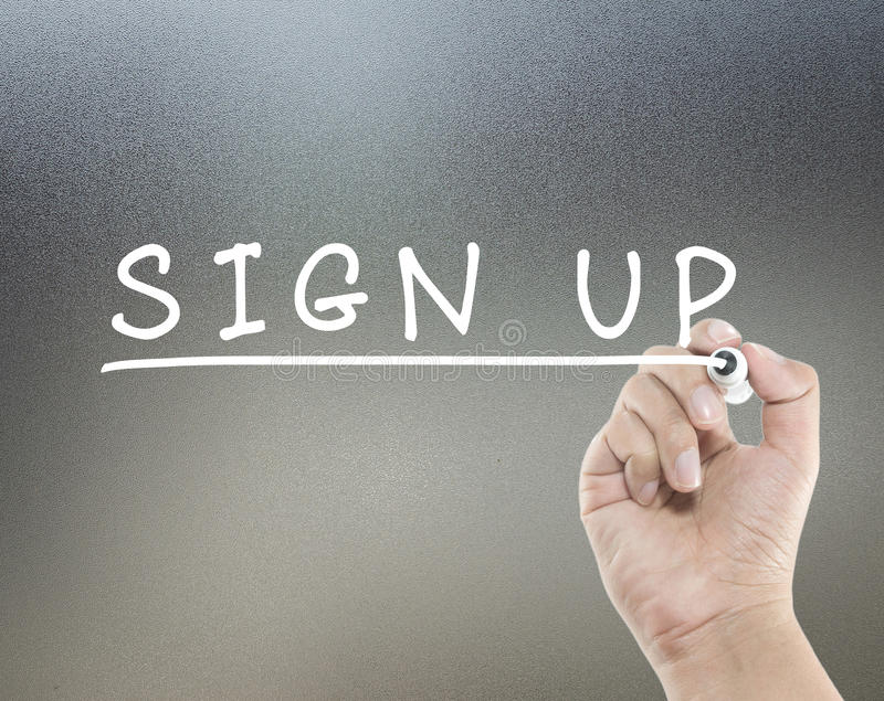 Sign up text royalty free stock photography