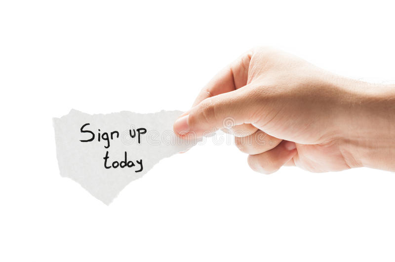 Sign up today royalty free stock photo