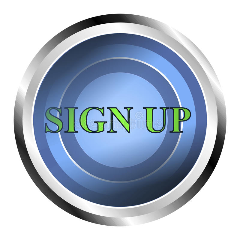 Sign up web button royalty free stock image