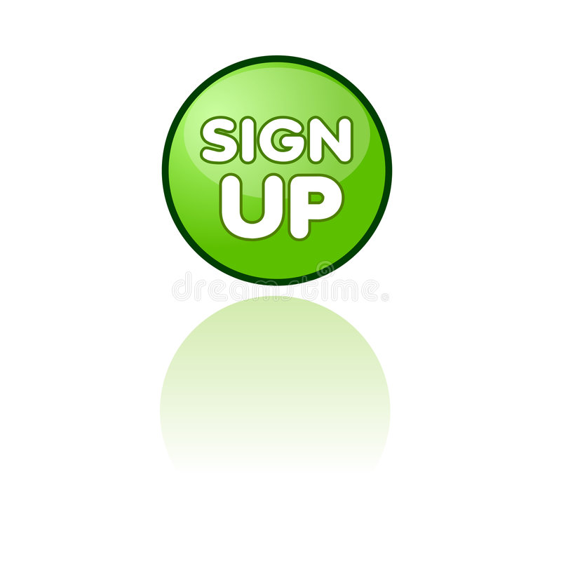 Sign up web button. Vector illustration of web button for sign up, useful for communities and social networks