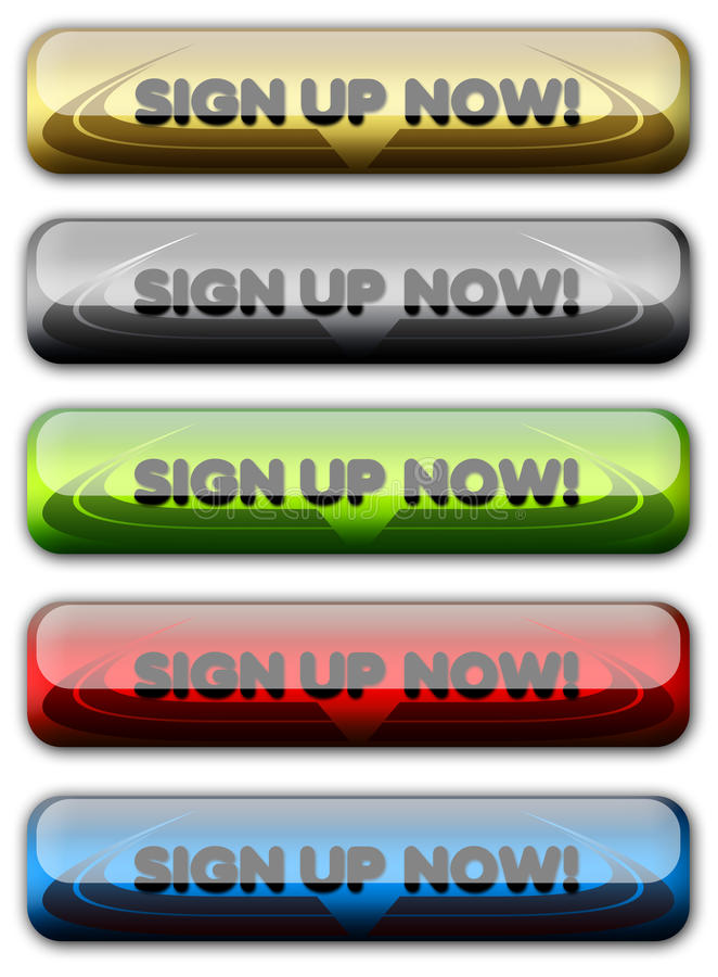 Sign Up Web Button, Signup, Register, Account stock image