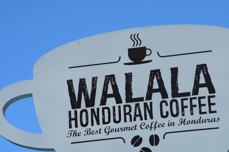 Sign Walala Honduran Coffee royalty free stock image