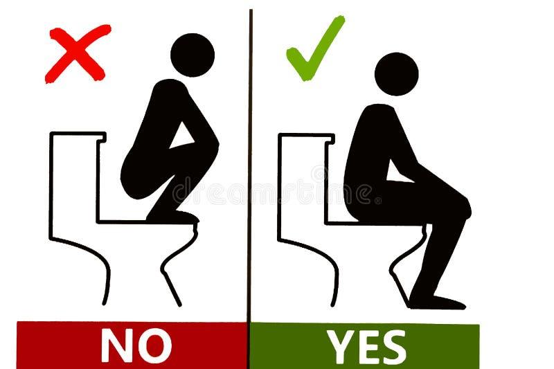 Toilet rules stock vector  Illustration of female, vector - 54660167