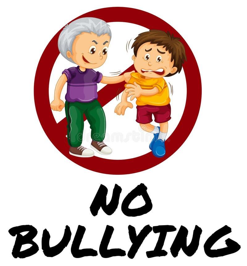 Sign warning for no bullying vector illustration