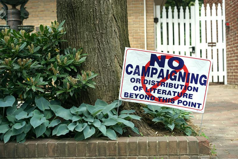 No Campaigning Allowed Here royalty free stock photos