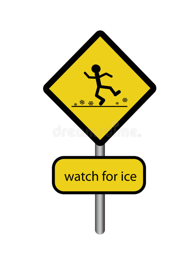 Free Sign Watch For Ice Stock Photo - 18288540