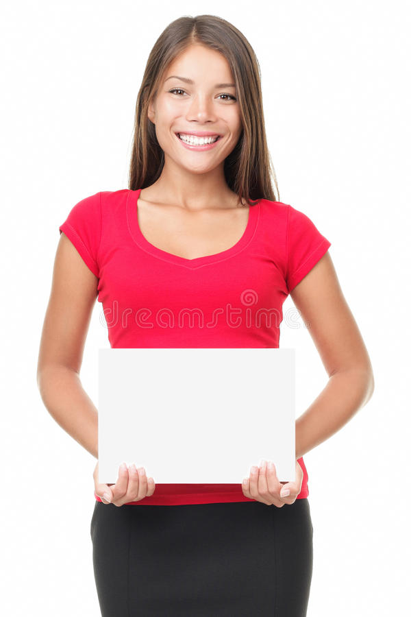 Sign woman isolated royalty free stock image