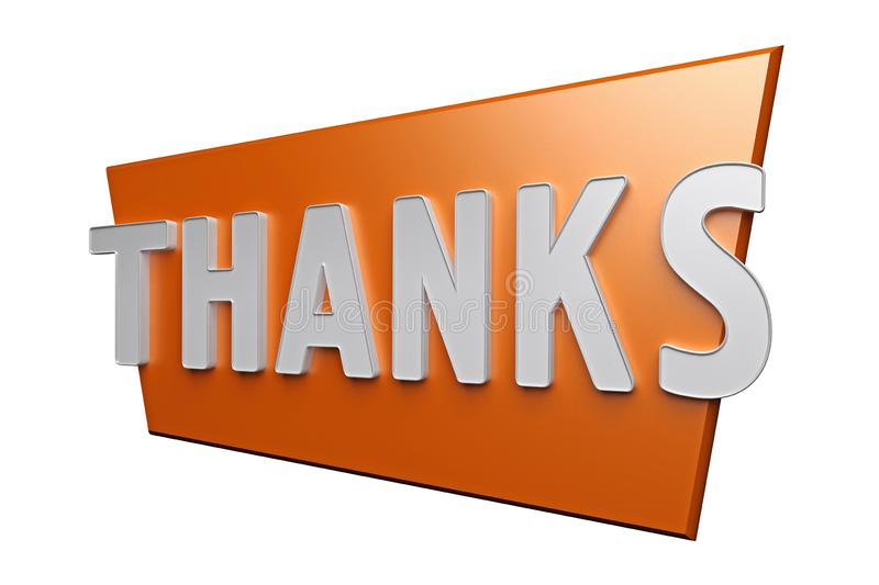 Sign with word thanks royalty free illustration