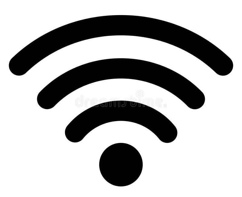 Signaal van de het netwerkverbinding van Internet van het Wifipictogram het draadloze stock illustratie