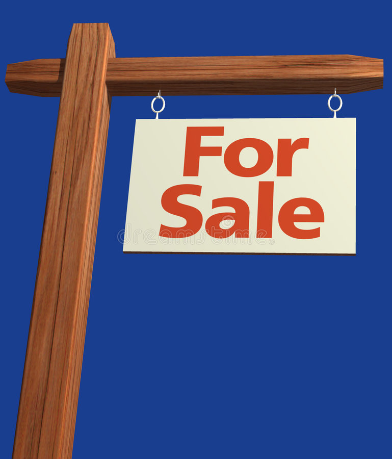Signage à vendre illustration de vecteur