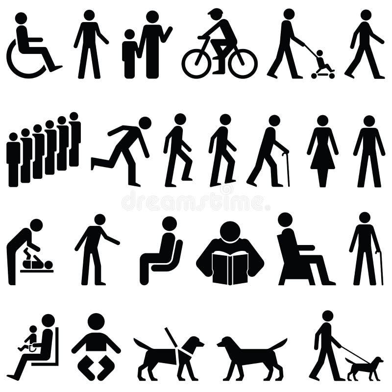 signage людей иллюстрация вектора