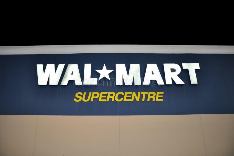 Signage магазина Walmart стоковые изображения rf