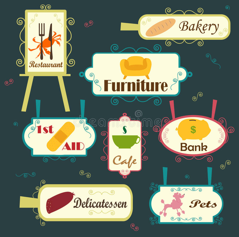 Signage. An illustration of a cute signage vector illustration