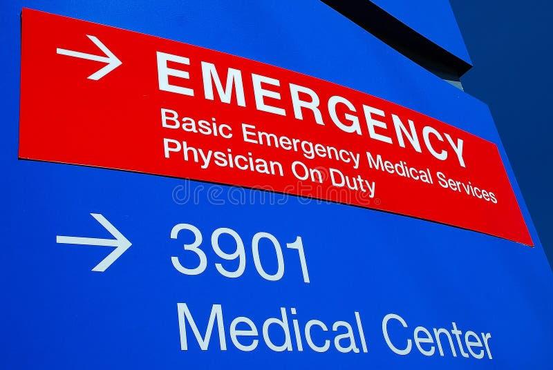 Signage 3 do hospital da emergência fotos de stock