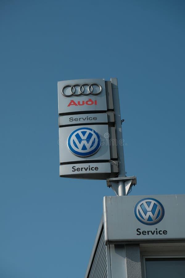 Signage automotivo de Bosch imagem de stock royalty free