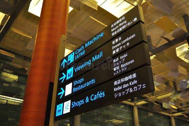 Signage bij Luchthaven stock afbeeldingen