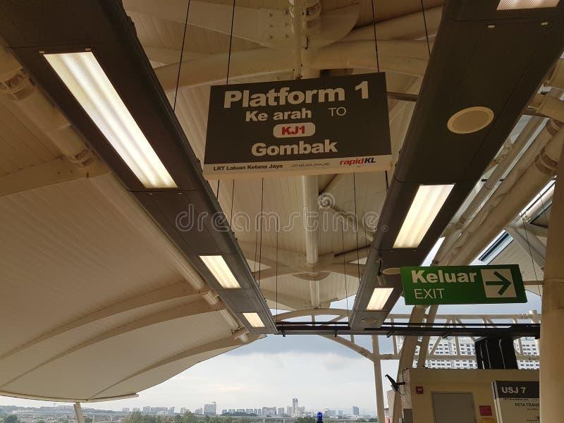 Signage bij Station royalty-vrije stock foto's