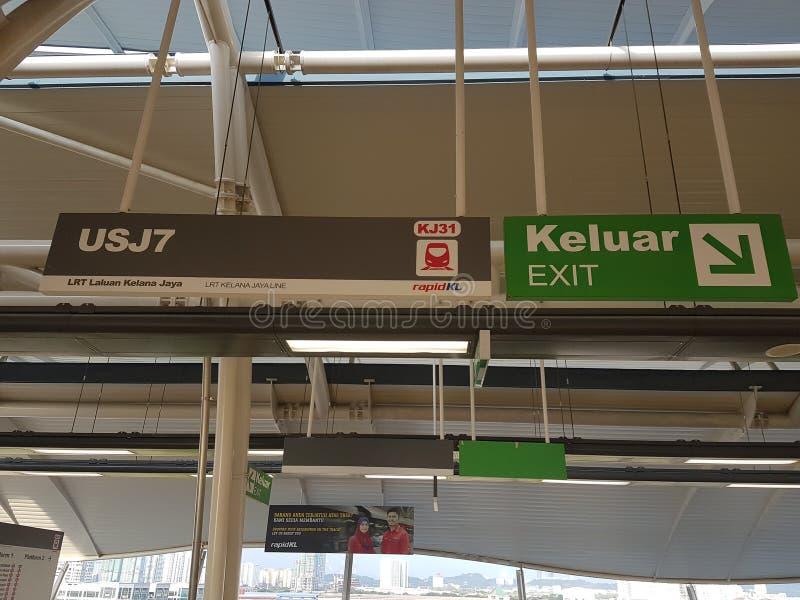 Signage bij Station stock foto